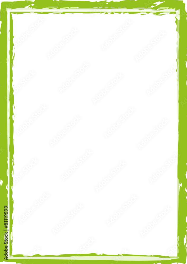 rama papierze zielony - powiększenie