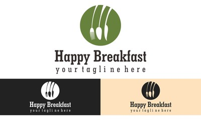 breakfast logo vector