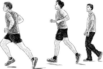 Boys for a run