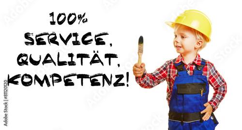 100% Service Qualität Kompetenz - 81120120