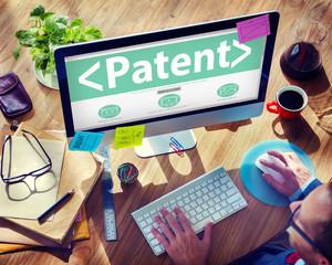 Digital Online Patent Branding Office Working Concept
