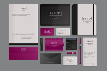 Modern corporate identity template design. Flat design