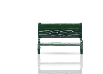 Outdoor bench isolated on white