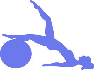 Фитнес девушка с мячем