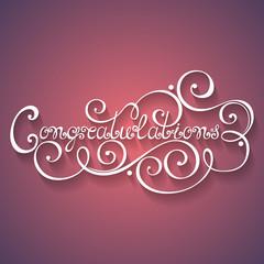 Vector Congratulations Inscription