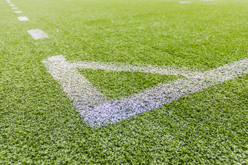 Artificial football pitch in the open air