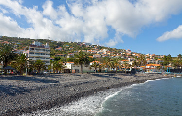 Beach in Santa Cruz, Madeira island, Portugal