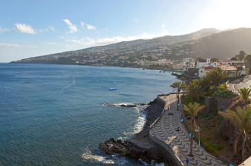 Beach in Santa Cruz, Madeira island, Portugal