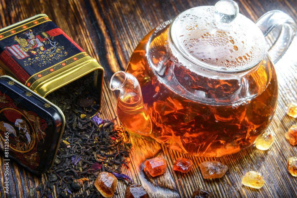 herbata czarna zielona herbata napoje - powiększenie