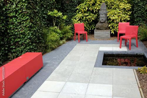 Fotobehang Tuin Hip garden design / Buddha