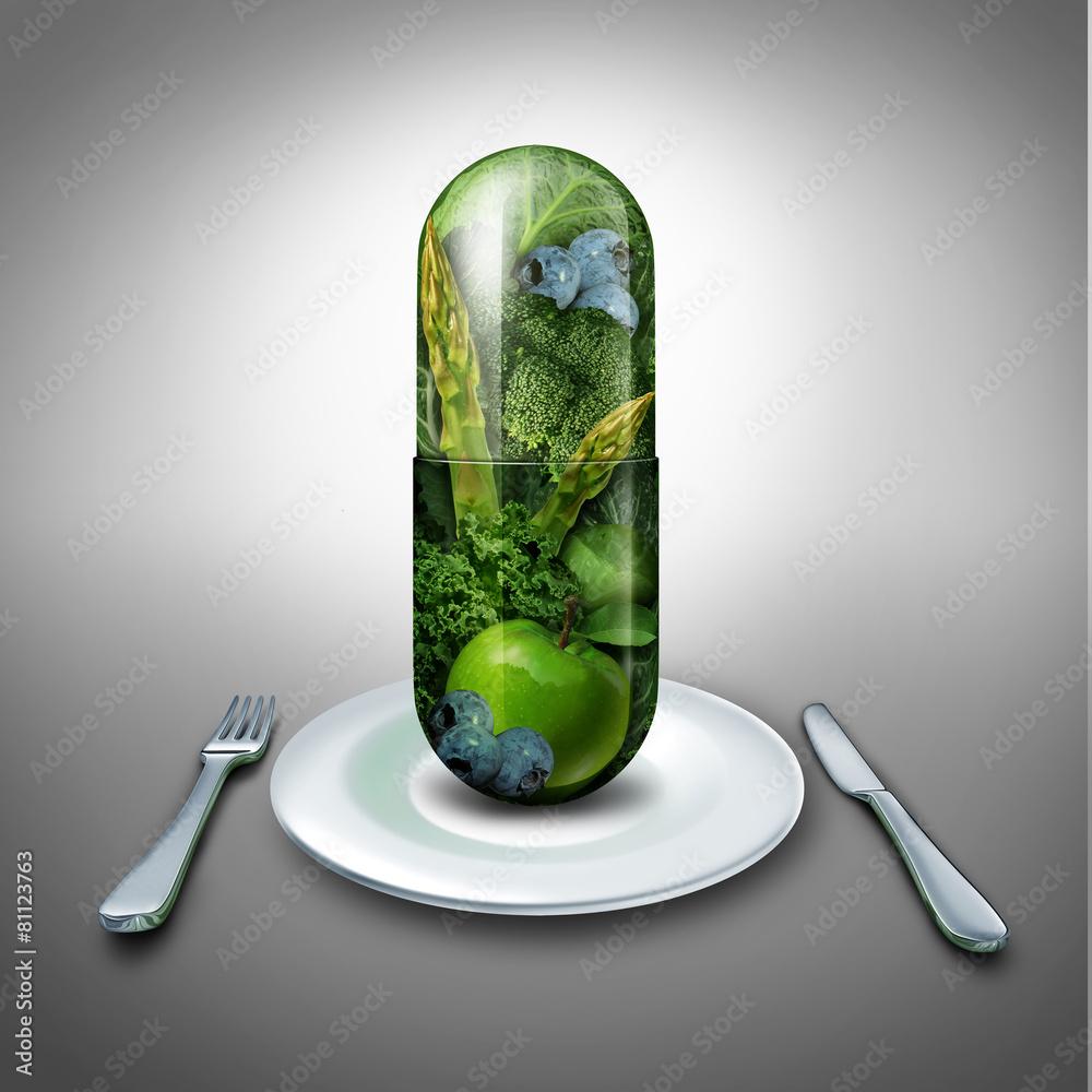 kapsułka pigułka witamina - powiększenie