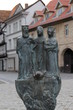 Leinwanddruck Bild - Statuen in Quedlinburg