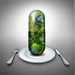 Leinwandbild Motiv Food Supplement