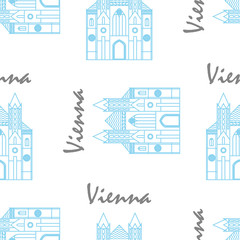 Vienna St Stephens Cathedral fabric pattern. Seamless vector