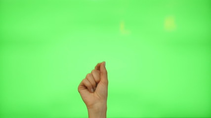 5 touchscreen gestures - female hand for transparent screen