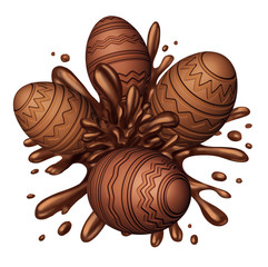 Chocolate Egg Splash