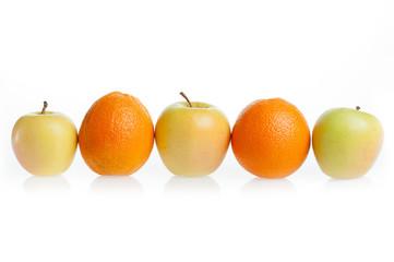 апельсин  яблоко