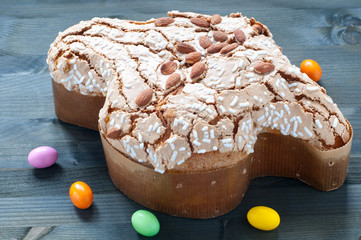 Sweet easter dove with  almond