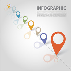 Vector infographics elements - points, graphic for business desi
