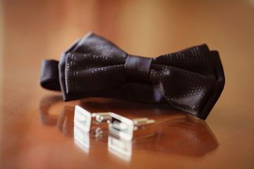 Elegant and special bowtie and buttons for a man