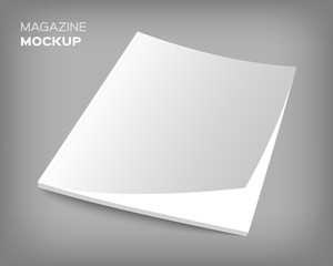 brochure cover mockup on gray