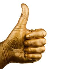 Human hand finger up like symbol
