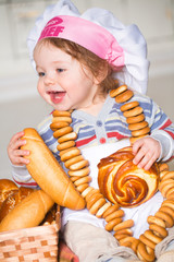 Little boy in bakery
