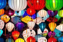 "Постер, картина, фотообои ""Traditional lamps in Old Town Hoi An, Vietnam."""