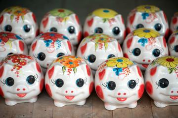 Piggybanks for sale in Hanoi, Vietnam