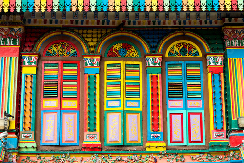 Canvas Singapore Colourful Architecture of Little India, Singapore