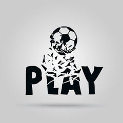 Play - vector background with ball theme - football..