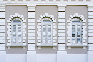 Colonial Architecture Windows.