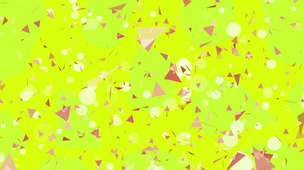 Abstract yellow triangles background.