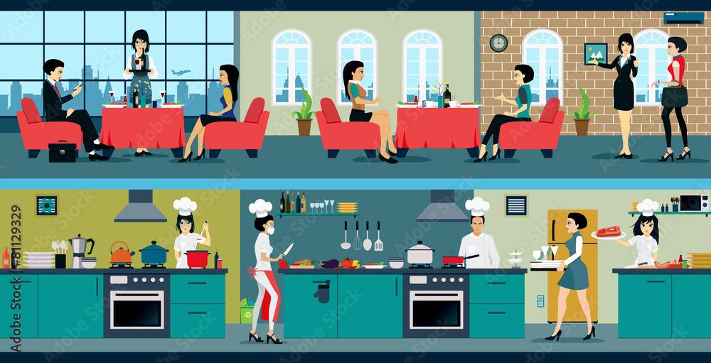kuchnia kucharz hotel - powiększenie