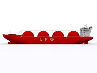 Seitenansicht LPG Frachter