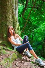 Waldlauf - Pause im Wald