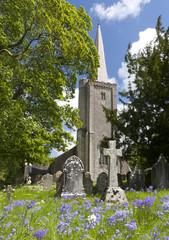 Summertime in a typical english Village Church. Devon, England.