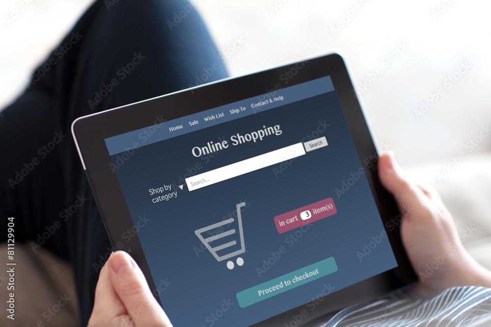 ręka online zakupy - powiększenie