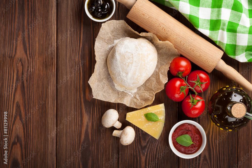 składnika ciasto kucharz - powiększenie