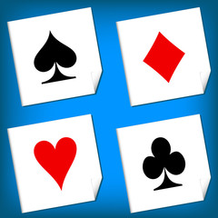 Playing card's signs