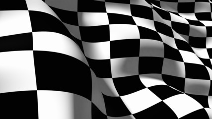 Checkered Flag. 3D. Checkered Flag Macro © BillionPhotos.com