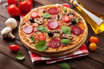 Italian pizza with pepperoni