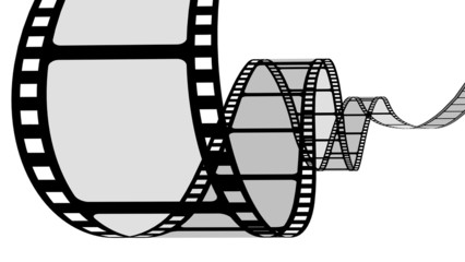 Camera Film. 3D. Curvy filmstrip