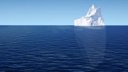 Iceberg. 3D. Tip of the Iceberg