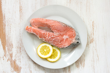 frozen salmon and lemon