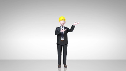 businessman presentation, gesture pointing.1(included alpha)