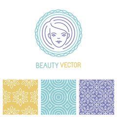 Vector beauty logo design template