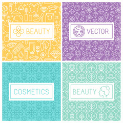 Vector beauty labels