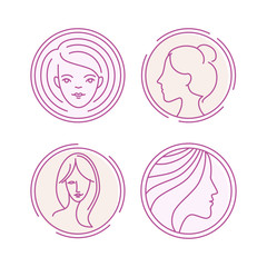 Vector female logos