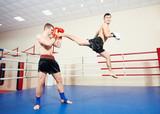 Fototapeta muai thai fighting technique